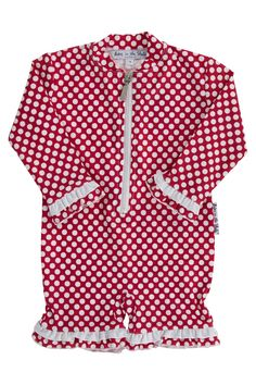 Babes In the Shade Kids Spotti Red Sunsuit - Kids Rashies - Birdsnest Buy Online
