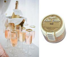 nyarsdrink-atbart-guld Gum Arabic, Edible Glitter, Smirnoff, Grad Parties, Gold Glitter, Vodka, Champagne, Cocktail, Drinks