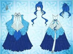 Anime Drawing Design Spirit of Water Dress Design by Eranthe - Dress Drawing, Drawing Clothes, Anime Outfits, Cute Outfits, Anime Dress, Cosplay, Character Outfits, Fashion Sketches, Costume Design