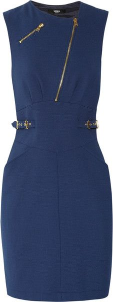 Versus Versace Buckle and Zipdetailed Mini Dress - Lyst