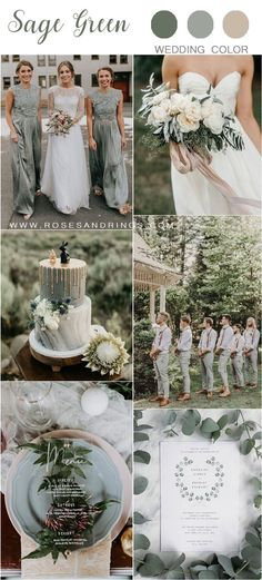 Sage Green Wedding Color Ideas for 2020 sage green wedding color ideas Planning a 2020 wedding? Bride and groom will first of all choose their colors and themes. We've got some uniquely beautiful ideas---silver sage wedding color. Summer Wedding, Dream Wedding, Wedding Beach, Sage Green Wedding, Green Weddings, Unique Weddings, Wedding Motifs, Wedding Themes, Themed Weddings
