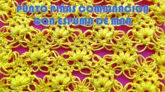 Punto a Crochet PIÑAS COMBINACIÓN CON ESPUMA DE MAR paso paso para BLUSA...
