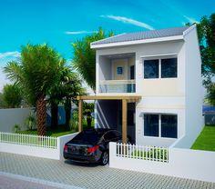 Veja alguns modelos de fachadas para casas pequenas e modernas. Use sua criatividade para decorar e criar modelos diferenciados com pedras, madeira e mais.