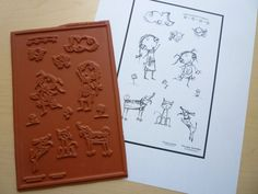 Lucy Loves Life Unmounted Rubber Stamp Sheet by Sunny Carvalho for Rubbermoon