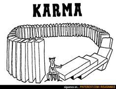 Definición gráfica de Karma.