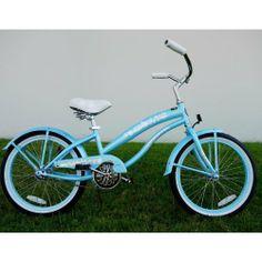 Kids bike girls 20 Beach Cruiser baby blue bicycle by GreenLine. $219.00. Girls…