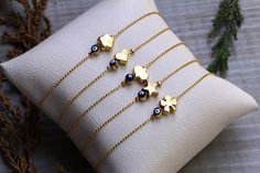 5 Bracelets Together Set Gift For Women, Set of Evil Eye Bracelets with Multiple Charms, Gold Dainty Evil Eye Bracelet, Minimalist Eye Gift Dainty Bracelets, Gold Plated Bracelets, Crystal Bracelets, Beaded Bracelet, Diamond Bracelets, Bangles, Mrs Necklace, Lucky Charm Bracelet, Evil Eye Bracelet