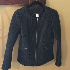 Venus faux leather jacket Very comfortable faux leather jacket. Size 2 but fits more like a 4. Worn once. Closet clean out, too many jackets (and I'm in sunny Southern California). Offers accepted, no trades please. Venus Jackets & Coats