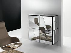 Madia sospesa con ante a battente Collezione Psiche by T.D. Tonelli Design | design Giovanni Tommaso Garattoni