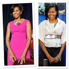 A couple of my fashion favs from a few years ago.  Love the bold color and love the wide belts that the First Lady favors.