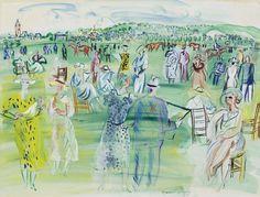 Raoul Dufy , Les mannequins de Poiret à Deauville Manet, Renoir, Raoul Dufy, Prado, Gouache, Art Folder, Georges Braque, Fauvism, Art Station