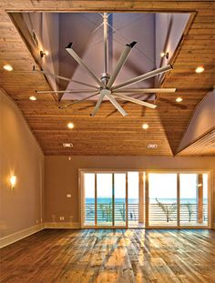 Oversized ceiling fan for large residential homes
