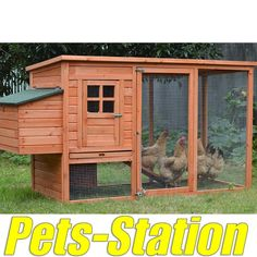 LARGE Chicken Coop Rabbit Hutch Ferret Cage Hen Chook House. Easy Access, both run and house has large doors for easy clean. Sliding door for living area, with internal door can be opened or closed from outside of the coop with the rob. | eBay!