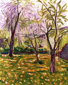 Trees and Buttercups  Edvard Munch - 1910-1911