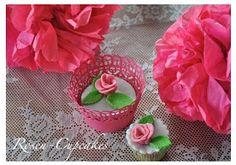 Rosen Cupcakes - Rezept und Dekorationsidee auf www.sweetundstyle.blogspot.de