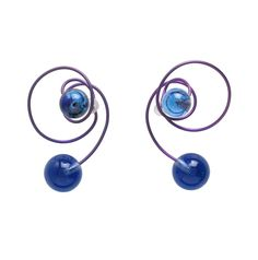 JAR Carnaval à Venise violet titanium earrings with blue Venetian glass; $2,000 (photo courtesy of Metropolitan Museum of Art)