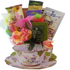 Pretty teacup gifts for a Mom or Grandmother