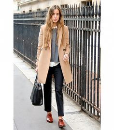 Berta Bernad of Berta Bernad Add instant polish to any outfit with a menswear-inspired, camel coat.