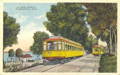 Streetcars at Lake Harriet in Minneapolis, Minnesota