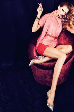 "Editorial: ""Viente Diosas"" Anne Vyalitsyna for Harper's Bazaar Spain March 2011 by Txema Yeste"