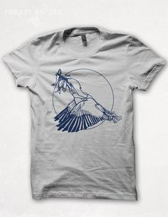 Mens Tshirt Lucky Kingfisher Shirt Screenprint by forestandfin