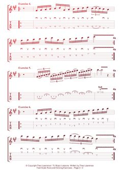 6 Guitar Shredding Exercises - Fast Scale Runs and Soloing Exercises in F# minor - Lead Sheet - Rockschool