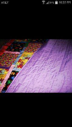 Autism Awareness quilt Mug Rugs, Autism Awareness, Warm, Quilts, Contemporary, Home Decor, Decoration Home, Room Decor, Quilt Sets