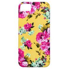 Vintage Pink and Yellow iphone 5/5S case