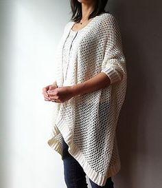 Angela - Easy Trendy Cardigan / Ravelry - crochet pattern