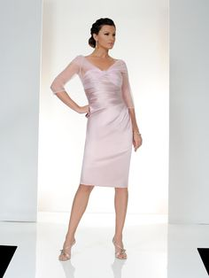 A stunning blossom light pink Mother of the Bride & Mother of the Groom dress from the Spring/Summer 2015 Collection from Irresistible. This dress has been beautifully designed in a silk effect fabric with netted sleeves and has an embellishment on the neckline. Product code IR8506S5. View more Mother of the Bride / Groom dresses from our Irresistible collection at: http://www.baroqueboutique.co.uk/mother-of-the-bride-south-wales/ Photographs courtesy of: http://www.irresistibleuk.com/
