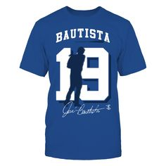 Jose Bautista - Player Number Silhouette T-Shirt, Jose Bautista Official Apparel - this licensed gear is the perfect clothing for fans. Makes a fun gift!  The Jose Bautista Collection, OFFICIAL MERCHANDISE  Available Products:          Gildan Unisex T-Shirt - $24.95 Gildan Women's T-Shirt - $26.95 Next Level Women's Premium Racerback Tank - $29.95 District Men's Premium T-Shirt - $27.95 District Women's Premium T-Shirt - $29.95 Gildan Unisex Pullover Hoodie - $44.95 Gildan Long-Sleeve…