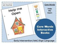 The Core Words Interactive Book series was written for toddlers and children with speech and language impairments.Children with developmental delays, apraxia, autism, Down syndrome and individuals using augmentative devices would benefit from these simplified illustrations and vocabulary.
