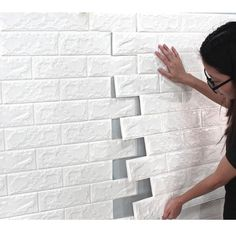 Home Remodel Additions Buy Environmental Stereoscopic Brick Wall Paper Sticker , sale ends soon. Be inspired: discover affordable quality shopping on Gearbest Mobile! White Brick Wallpaper, White Brick Walls, Fake Brick Walls, 3d Wallpaper For Walls, Wall Stickers Brick, Wall Decor Stickers, Decals, Brick Wall Paneling, Faux Brick Wall Panels