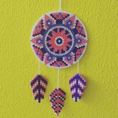 Dreamcatcher hama perler beads by jootje31