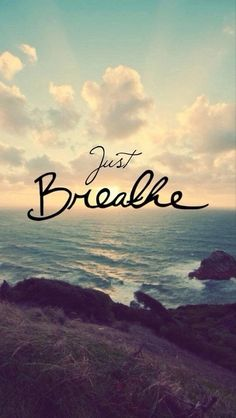 "I never realized how much the words ""just breathe"" mean when I say them. I'm not saying to breathe as in a way to relax and calm down. I'm saying just keep breathing. The Words, Great Quotes, Quotes To Live By, Inspiring Quotes, Just Breathe Quotes, Daily Quotes, Awesome Quotes, It Will Be Ok Quotes, Cant Breathe"