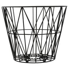 Ferm Living Wire Basket in Black- Medium