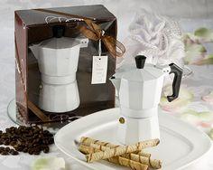 Euro Espress - White Espresso Maker (2 Cup) favor