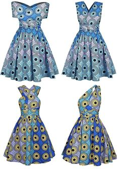 African Print Multiway Open Back Dress