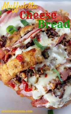 Muffuletta Cheese Bread-Creole Contessa #mardigras