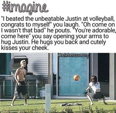 My two favorite things.  Justin bieber and volleyball