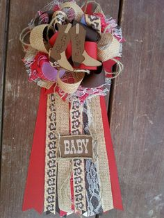 Western baby shower mum by bonbow on Etsy