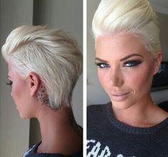 Amazing hair! Lady faux hawk pixie cut by dominique