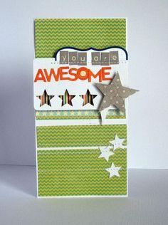 You Are Awesome Card by Nicole Nowosad via Jillibean Soup Blog