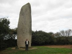 Megalith - Kerloas Menhir, Saint-Renan, Finistère near Brest.    The Kerloas Menhir measures  9.5m (31 ft), and is believed to  be the world's tallest menhir. Two  hundred years ago it was even  taller, but the top two metres were  struck off by lightning.