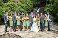 Spring Green and Sunflowers for a Southern Wedding! | Cariad Photography | See More:  http://heyweddinglady.com/spring-green-southern-wedding-with-a-travel-theme/