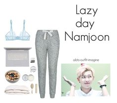 lazy day with rap mon by bts-outfit-imagine on Polyvore featuring polyvore art simple kpop korean bts rapmonster