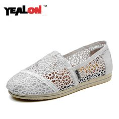 YEALON Women Shoes High Quality Oxford Shoes For Women Flats Shoes Woman Moccasins Ballet Canvas Flats Zapatos Mujer Size 35-40