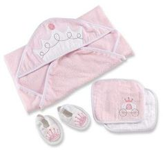 Baby Aspen Little Princess 4-Piece Bath Set #sale#babyclothes  #newborn #princess #party #littleadditions
