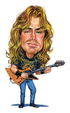 Dave Mustaine ( Megadeth ) ...artwork by ExaggerArt http://exagger-art.artistwebsites.com/