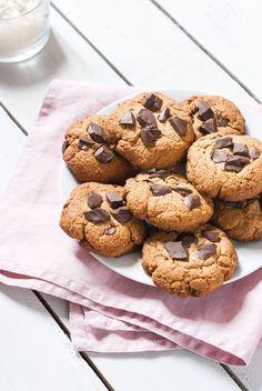 Cookies aux Pépites de Chocolat Sans Gluten Ni Lait   Lilie Bakery http://liliebakery.fr/cookies-chocolat-gluten-lait/